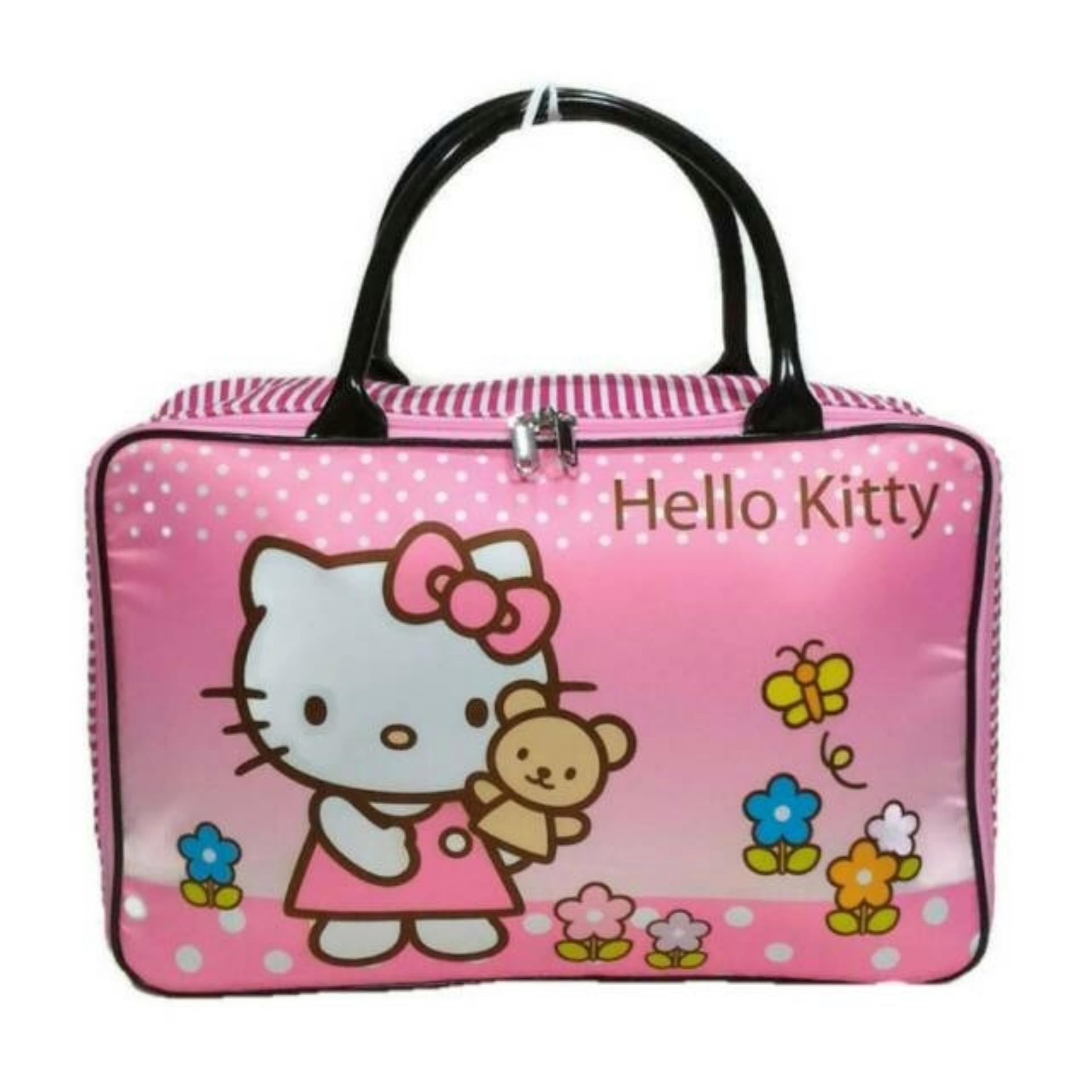 Amt Travel Bag Koper Anak Kanvas Boneka Pita Pink By Baby Kiddies Corner.