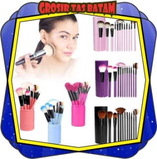 GTB - R034 Kuas Alat Make Up Kosmetik Tabung 12pcs Brush 12 Set In Tube Pro Rias MakeUp Import Cod thumbnail