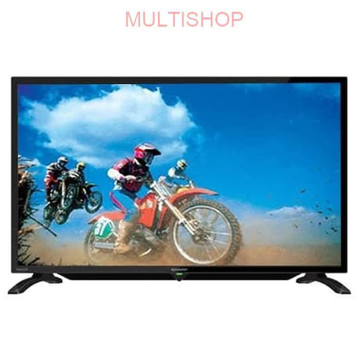 SHARP TV 2T-C32BA2I TELEVISI HD 32 INCH FULL DISPLAY SUPORT USB MUSIC AND PICTURE TV LED BACKLIGHT WITH ANTENNA BOOSTER ORIGINAL BERGARANSI