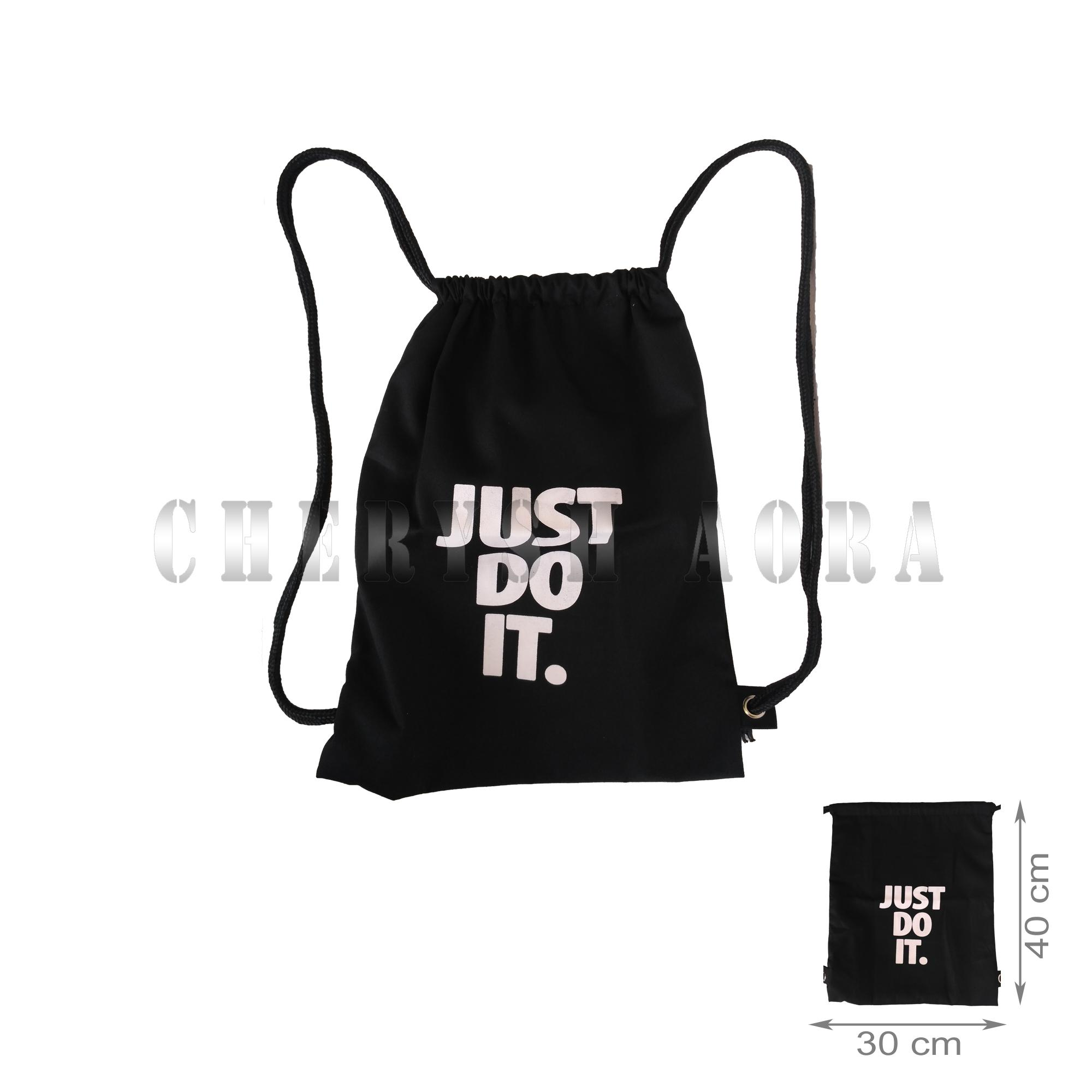 Tas Ransel Stringbag / String Bag / Tas Serut - Just Do It By Cherysh Aora.