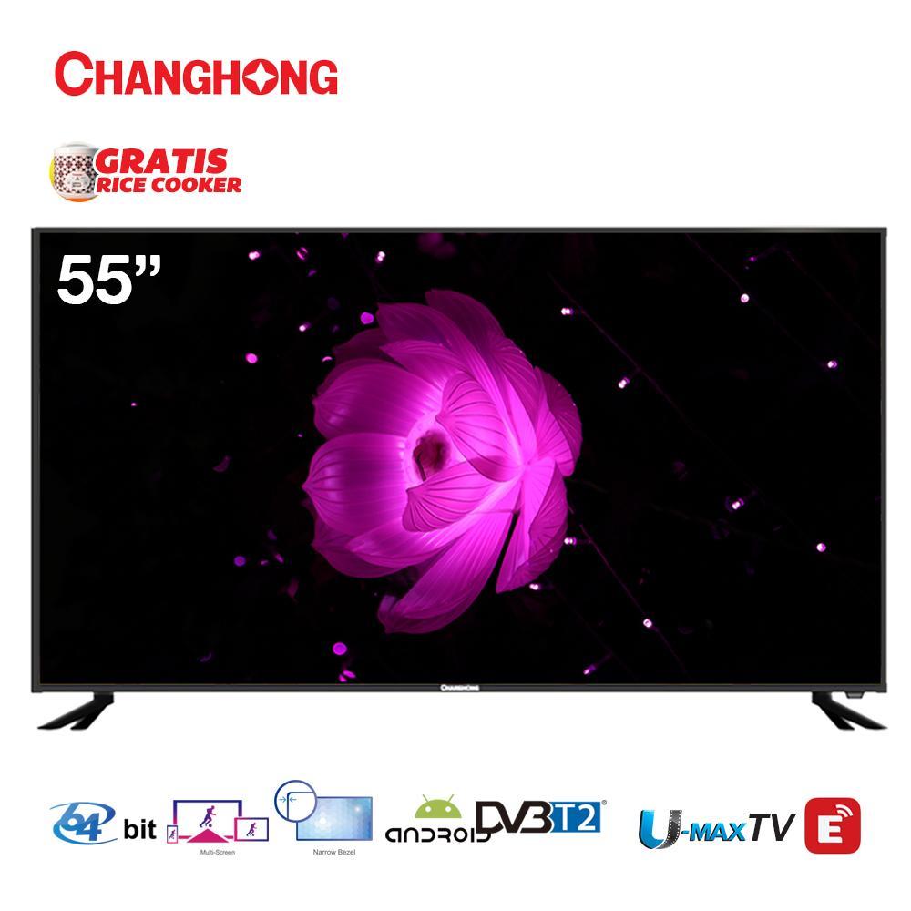 CHANGHONG LED TV L55H5I 55 INCH ANDROID SMART TV GARANSI RESMI 3 TAHUN