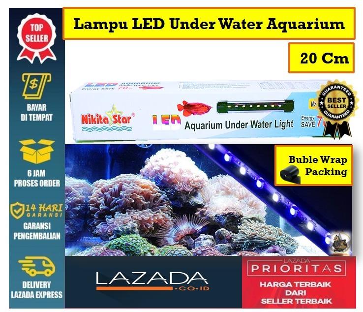 Toko Semar - Lampu LED Under Water Aquarium / Aquascape Murah 20 Cm NIKITA STAR