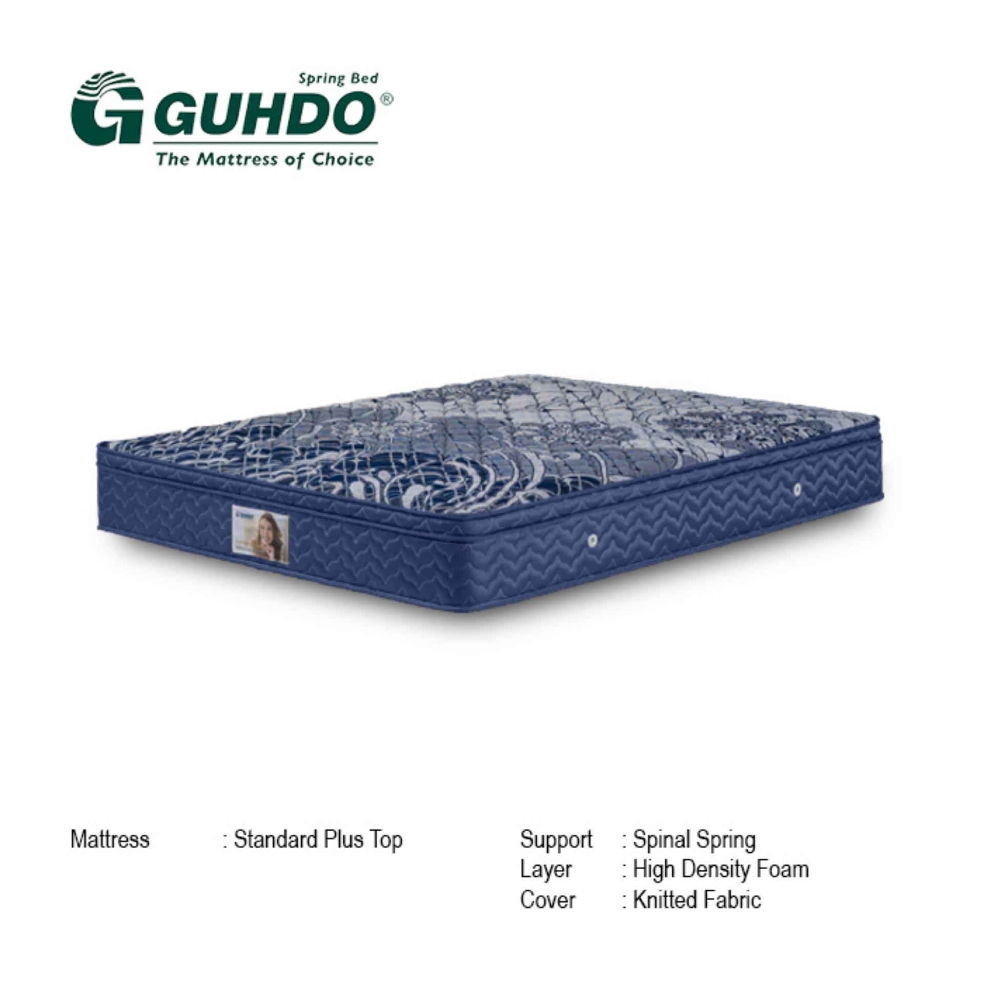 Guhdo Springbed Standard Single Plush Top Biru Ketebalan 27 Cm Size 180 x 200 - Mattress