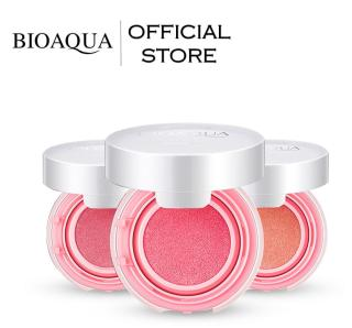 BIOAQUA Official Smooth Muscle Flawless Blush On Cushion - 12g - Perona Pipi Bioaqua Bio Aqua Terlihat Natural dan Warna Soft Color Blusher Blush On Powder Mini Cushion Ringan Dipakai Bulu Soft thumbnail