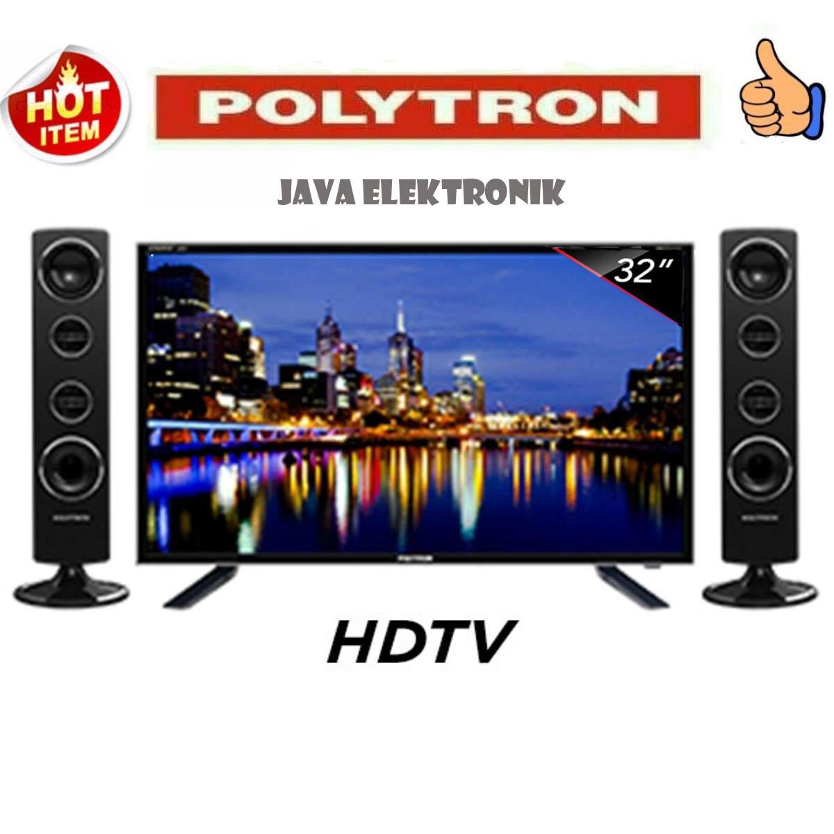 POLYTRON LED TV 32 Inch HD - PLD32T1850 [Speaker Tower]