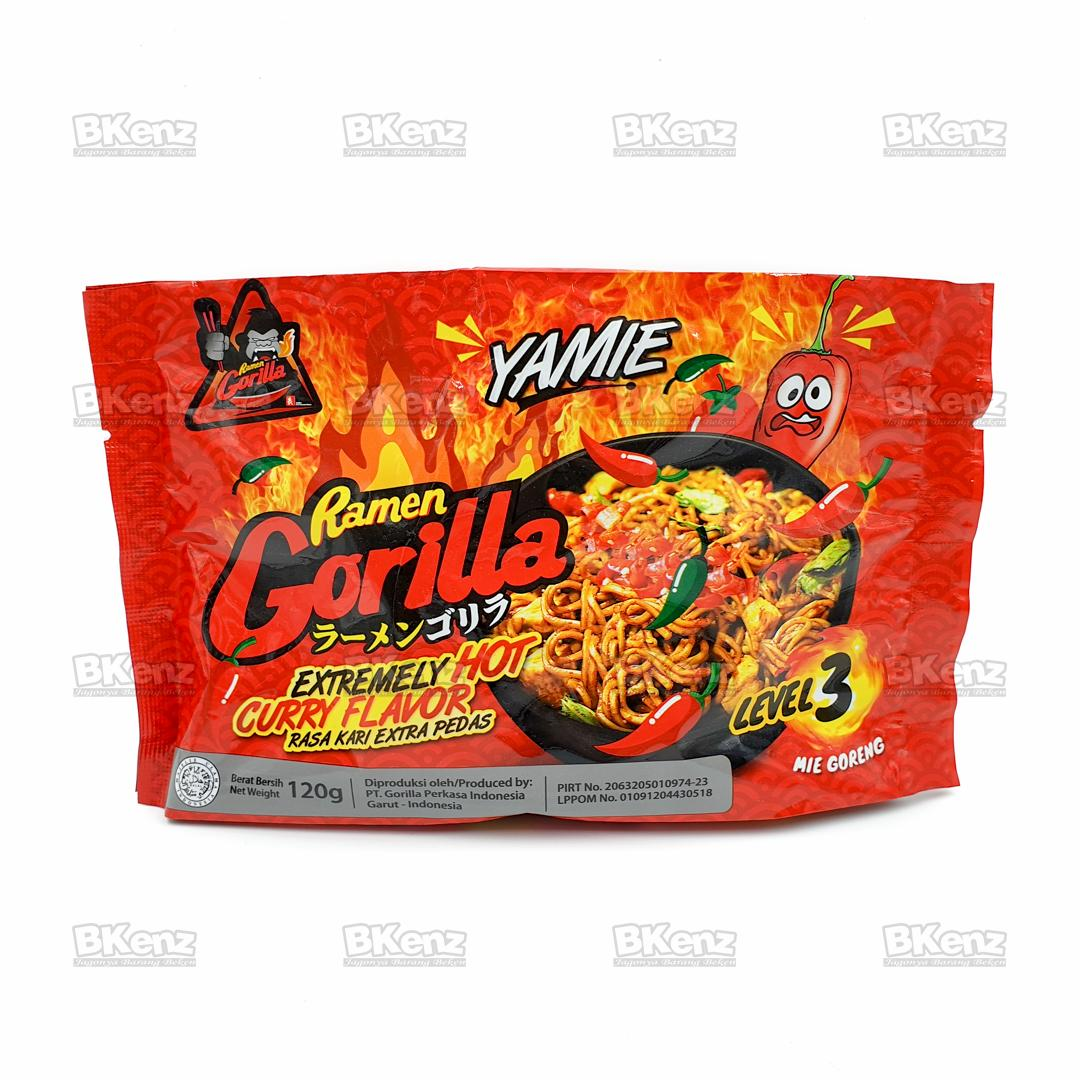 Ramen Gorilla Goreng Yamie Kari Super Pedas Super Spicy Instant Noodle Mie Instan Saingan Samyang Level 3
