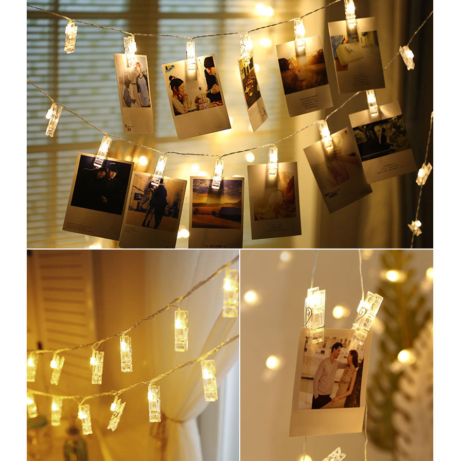 Anblub Lampu Hias Dekorasi Clip String 20 Led 2 Meter Warm White 0606 Warm White Lazada Indonesia Foto lampu hias