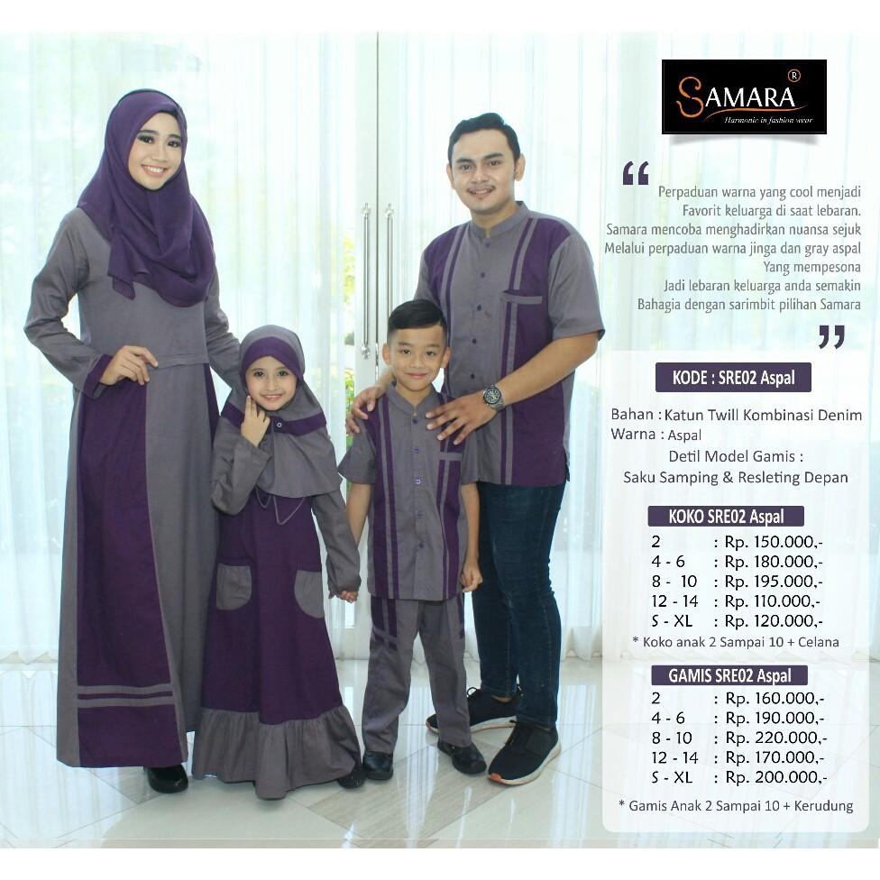 keluarga/couple keluarga/ branded/SAMARA/SRE UNGU (GAMIS 12-14)