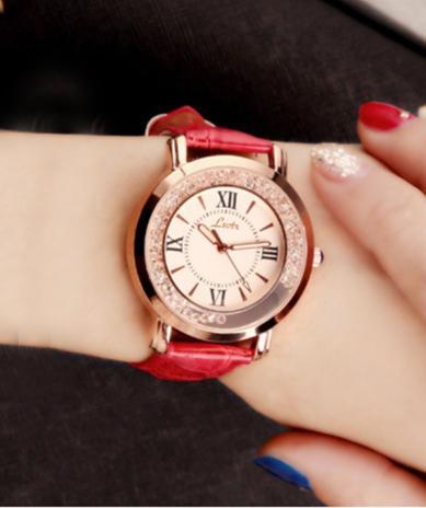 Lsvtr Jam Tangan Wanita Korea Fashion Flow Diamond Quartz Women Leather Watch Sw068 By Santorini.