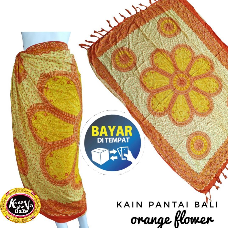 Kanaya - Kain Pantai Motif Flower Printing Bali