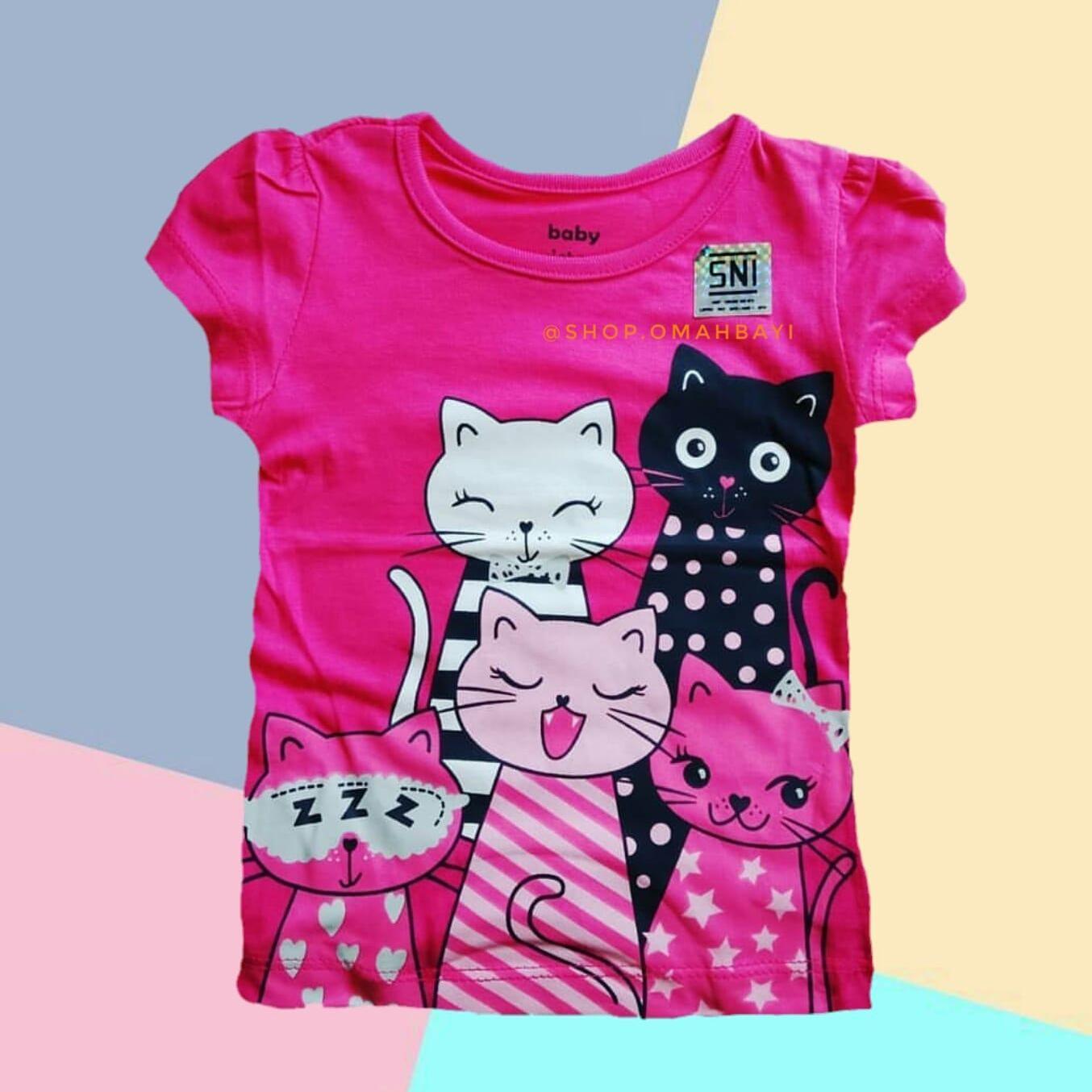 Kaos Anak Perempuan Baby Victory 1 - 2 - 3 Tahun Motif Cerah Mix RANDOM