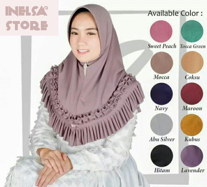 hijab /jilbab instan jerseykerudung bergo terbaru bahan jersey/bergo jersey/inelsa store