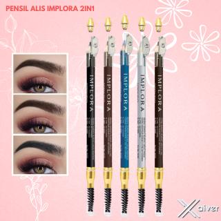 Pensil Alis Implora 2in1 (Pensil Alis dan Sikat) BPOM OriginalBlue black silver brown thumbnail