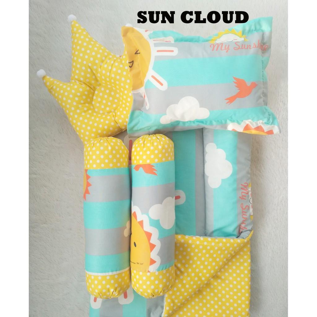 Baby Bed Set Bedcover Selimut Bantal Cover Crown Mahkota Guling Alas Tidur Bb Bayi Sun Cloud By Isut Galeri.