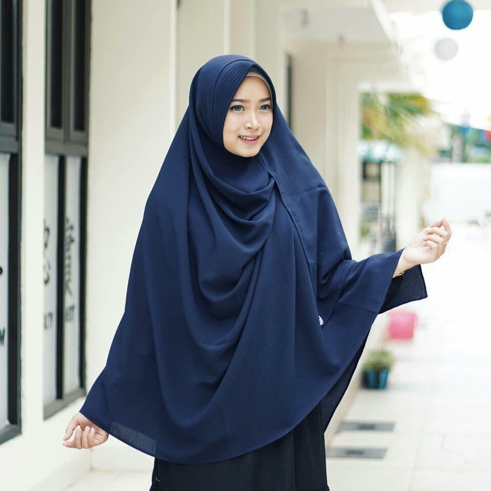 Jilbab / Hijab KHIMAR ZAHRA Jumbo Diamond - Kerudung Segi Empat 4
