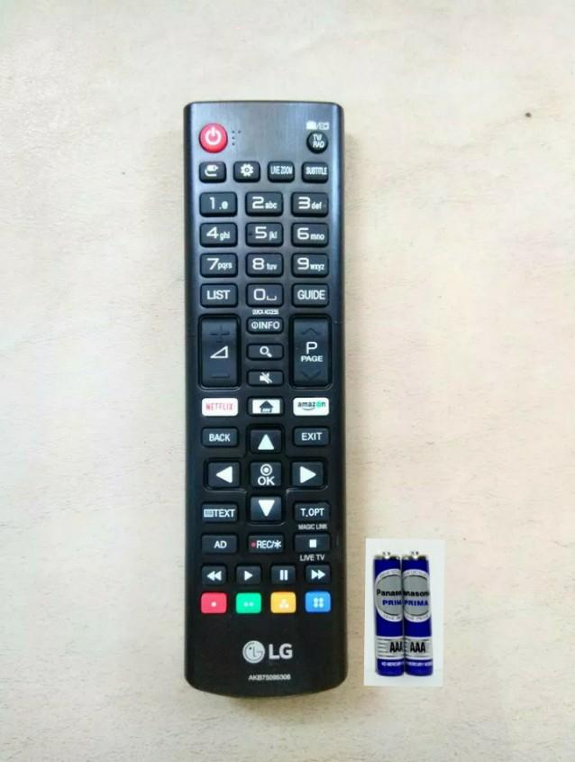LG Remote Control  TV LCD/LED SMART NETFLIX Amazon AKB75095308 Original - Hitam