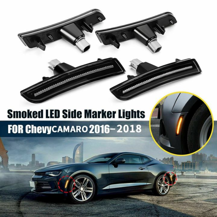 Smoked LED Sidemarkers Compatible with 2016-2018 Chevrolet Camaro