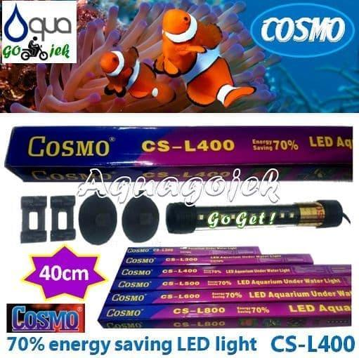 Cosmo CS-L400P Lampu LED 40cm Aquarium Warna Putih