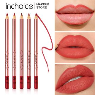 Lipstik Liner Bibir Matte, Pensil Garis Bibir Matte Tahan Air, Tahan Lama Tepat dengan Rautan thumbnail