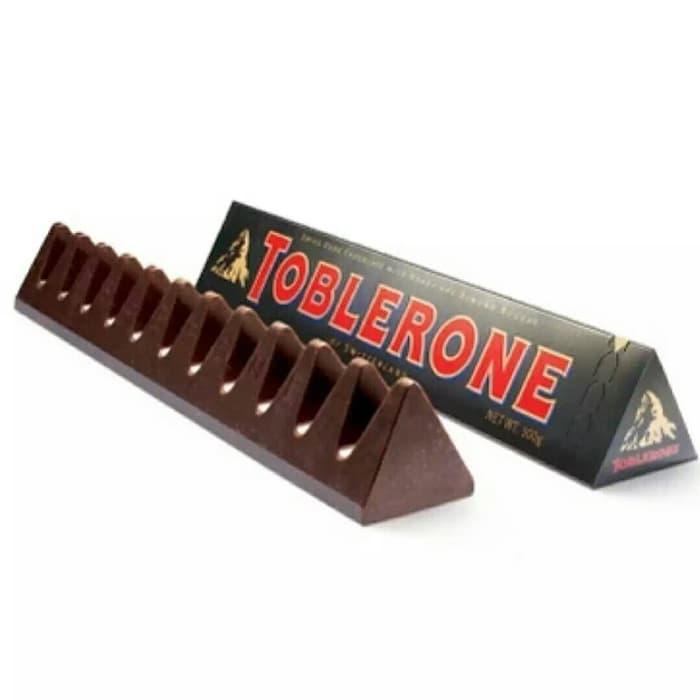 Paket 2 Pcs Toblerone Dark Chocolate - Coklat 100 Gr