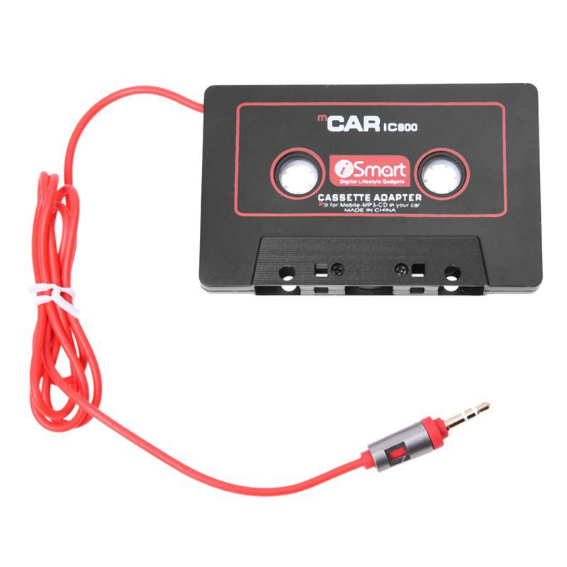 Car Audio Systems Car Stereo Cassette Tape Adapter For Mobile Phone MP3 AUX CD Player 3.5mm Jack For Car Truck Van (Color: Black) Đang Có Khuyến Mãi