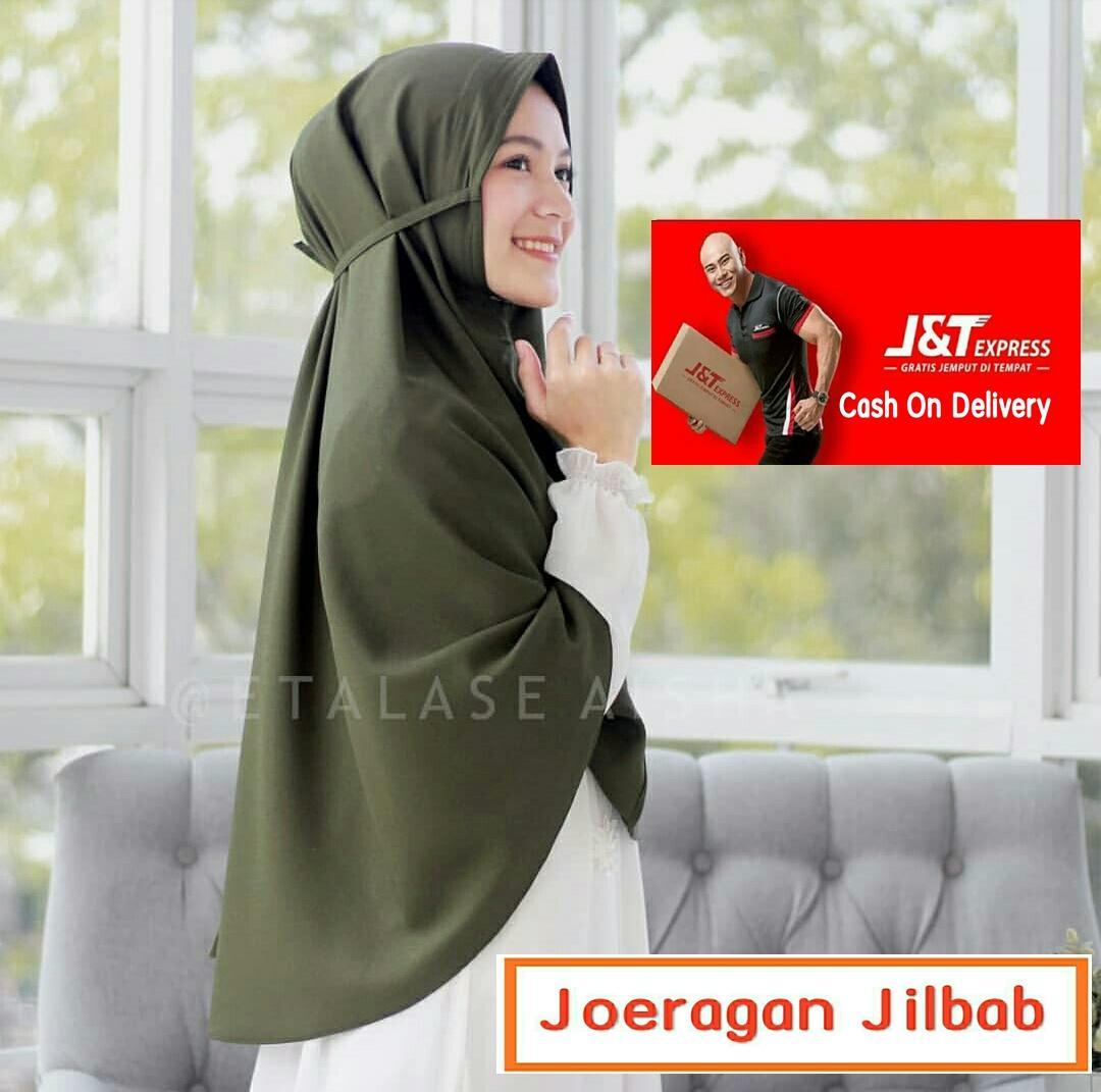 Jilbab Instan Khimar Non Pet Tali Pinguin 80 X 110
