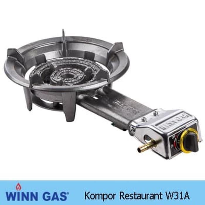 Winn Gas Kompor Gas Komersil 1 Tungku 31A Low Pressure Kompor Restoran