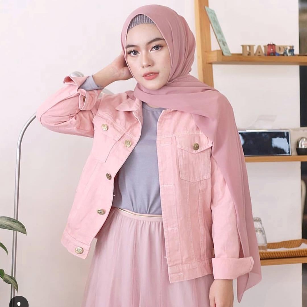 Ab Fashion Wanita - Jaket Wanita - Harga Murah - Jaket Premium Quality - Jaket Denim PolosTerbaru 2019