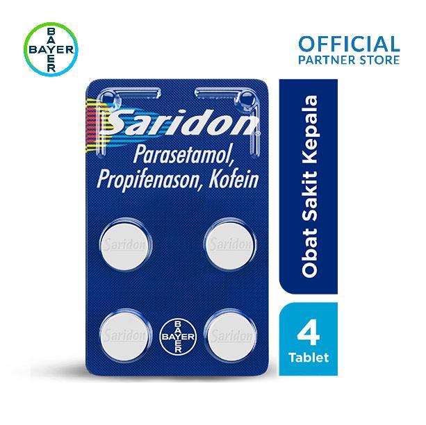 Saridon Obat Sakit Kepala 4 Tablet By Bayer Official Store