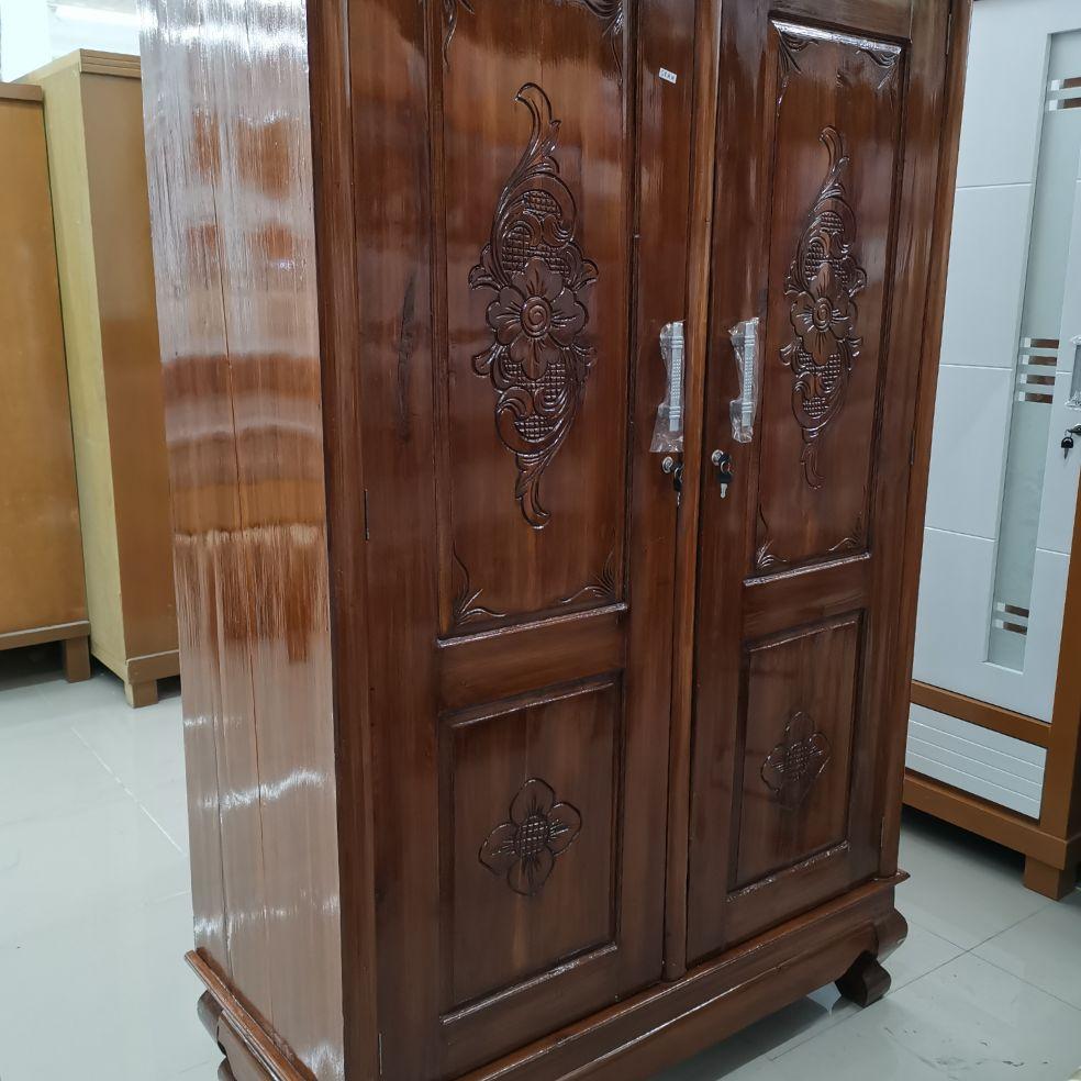 Lemari Pakaian Baju Jati 2 Pintu Lazada Indonesia Lemari pakaian kayu jati