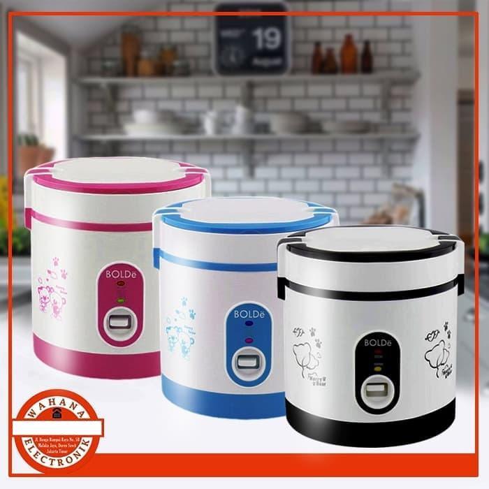 Super COOK BOLDe 0.6L Rice Cooker Mini 3 In 1 Original Bolde Pink - Wahana Mall