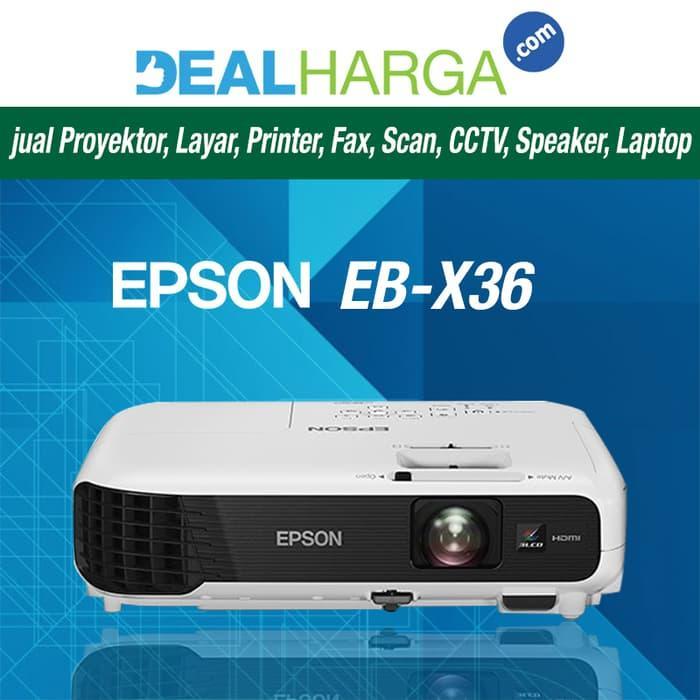 [PALING BAGUS] Mini Proyektor Epson EB-X36 - 3600 Lumens LCD Proyektor