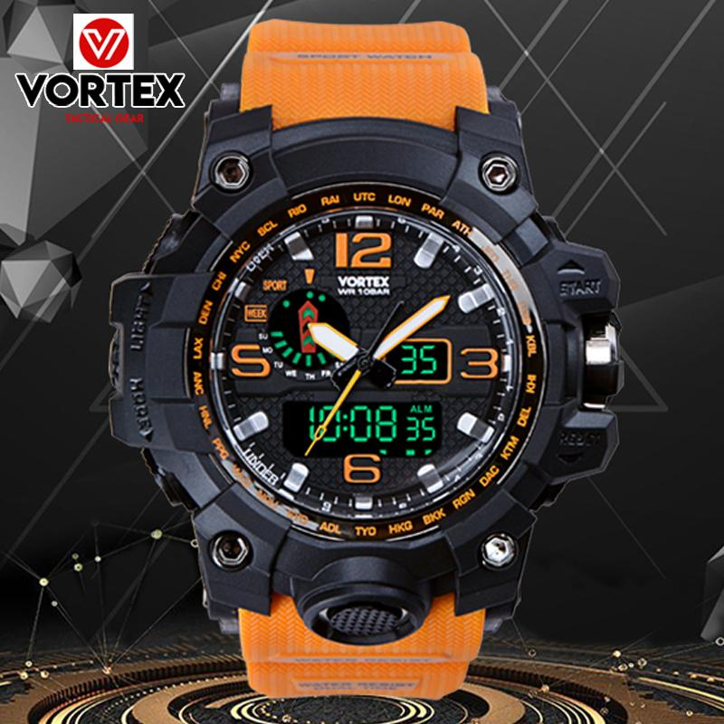 SKMEI Vortex VX1011 Fashion Men Digital LED Display Sport Watches Quartz Watch 50M Waterproof Dual Display