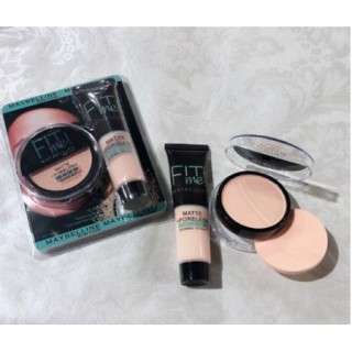 NK- (COD) NEW FIT ME PORELESS MATTE MAYBELLINE SET 2IN1 FOUNDATION & POWDER thumbnail