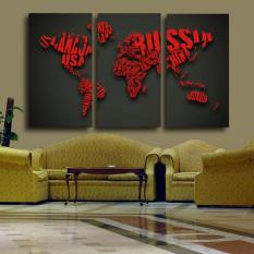 3 Pcs Besar HD Dinding Lukisan Wedding Gambar Kata Peta Dekoratif Lukisan Kanvas Cetakan Pada Kanvas