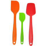 Beli 3 Piece Silicone Set 450 Degrees F Heat Resistant Spoon Spatulas Easy To Clean Cooking Baking Mixing Set Seamless One Piece Design Kitchen Utensil Set Non Stick Multicolor Intl Intl Baru