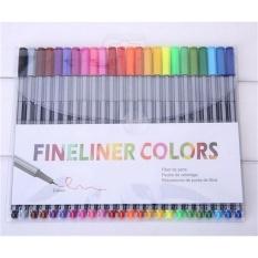 Beli 4 Mm 24 Fineliner Pens Color Fineliners Set Markers Art Painting Sale Multicolor Intl Cicil