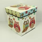 Jual Kotak Penyimpanan Multifungsi Kotak Serbaguna Sekaligus Bangku Bahan Tebal New Burung Hantu Lengkap