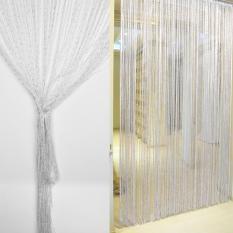 Review Toko 1 M X 2 M Enkripsi Flash Silver Dekorasi Jendela Pintu Tirai Benang Putih International