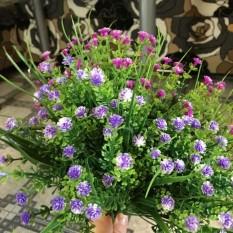 1 Ranting Kecil Tanaman Buatan Rumput Bunga Palsu Plastik Sutra Kayu Putih untuk Meja Kantor Pernikahan Hotel Dekorasi-Internasional