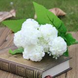 Jual Beli Online 1 Dompol 9 Kepala Buatan Semacam Bunga Buket Sutra Buket Bunga Dekorasi Pesta Pernikahan Putih Internasional