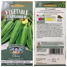 1 Pack Asli Isi 10 Butir Benih Sayuran Mr Fothergills Import - Okra Cajun Delight F1