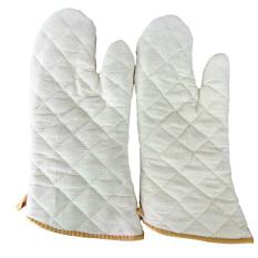 Spek 1 Pasang Dari Tahan Panas Anti Panas Sarung Tangan Oven Kapas Sarung Tangan Dapur Khusus Kue Tiongkok
