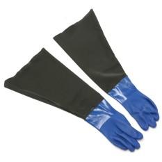 1 Pair Anti Udara PVC Sarung Tangan Keselamatan Kerja Korosi Kimia Ketahanan Sarung Tangan-Internasional