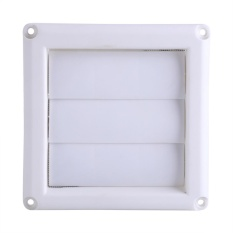 1 Pc Plastic Air Vent Grille Cover 3 Flaps Wall Duct Ventilation Grill With Net New 15 15Cm Intl Murah