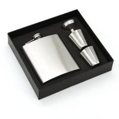 Review 1 Pc Stainless Steel Hip Flask Pocket Bottle For Whiskey Liquor Wine Alcohol Cap Intl Tiongkok