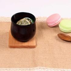 1 Pcs Mini Kayu Pallet Wiski Anggur Kaca Cangkir Tatakan Pad Hot Cold Drink Coasters Mug Meja Dapur Kayu Mats -Intl