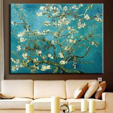 1 Pcs/set Almond Blossom Besar Gambar Abstrak Bunga Lukisan Minyak Di Atas Kanvas Van Gocanvas GH Cetak Dinding Ruang Tamu Art-Intl