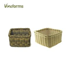 Viroforms Keranjang Pantry Rotan Sintetis Set 2 pcs Honey and Palm - Food Grade.
