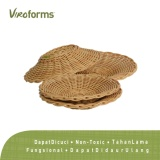 Cuci Gudang 1 Set Piring Anyaman Viroforms Honey Food Grade Washable